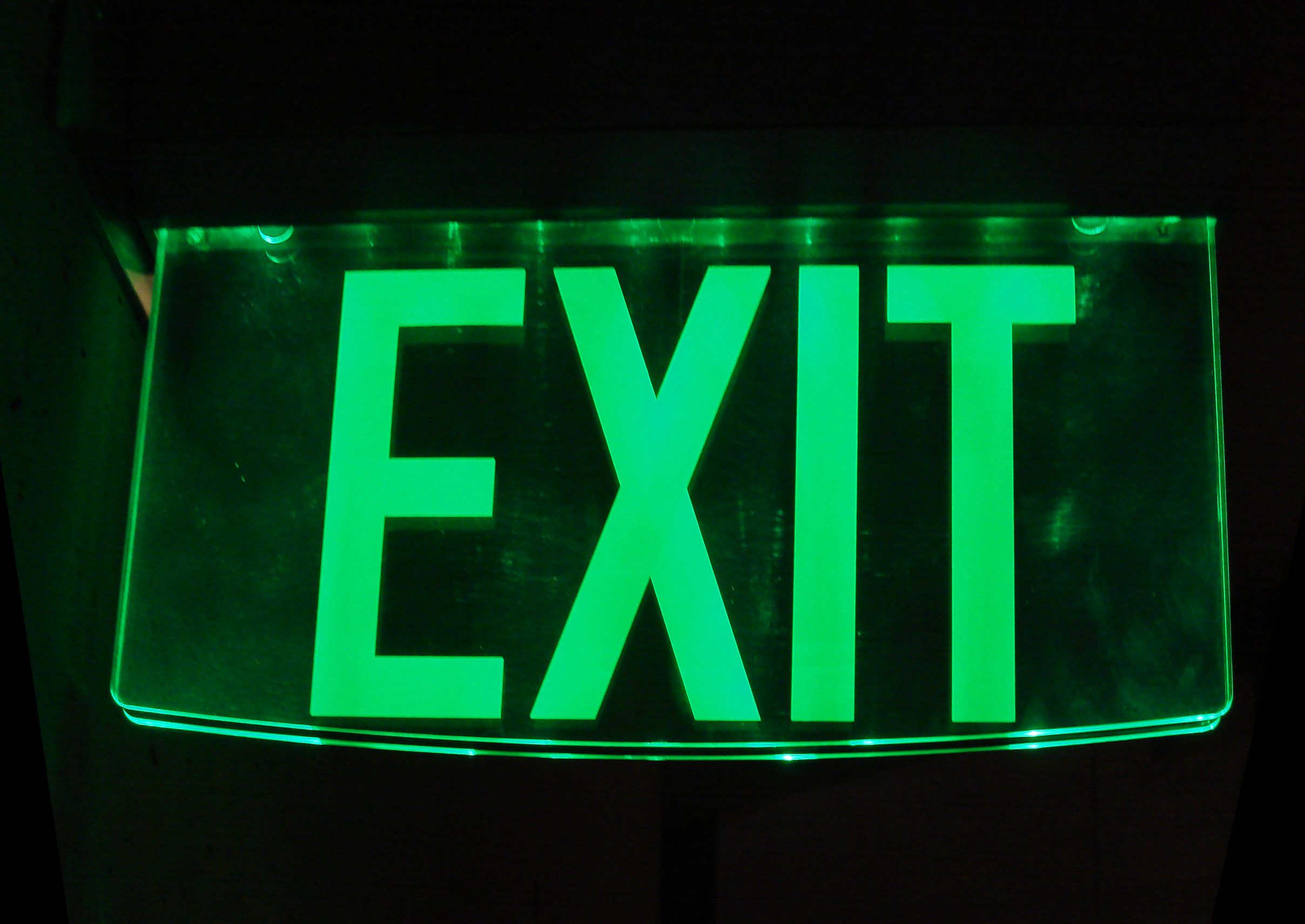 Glass_exit_sign Emergency Lighting